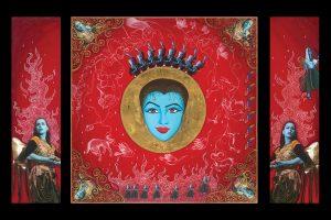 Blue Like Me - Triptych