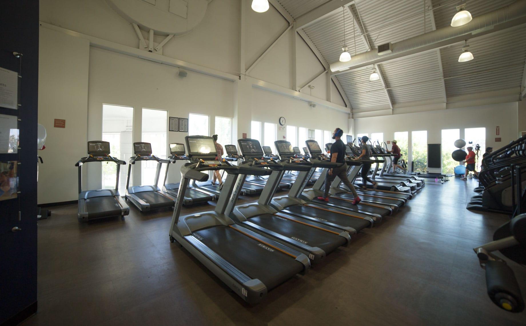 Treadmills at the PJCC Fitness Center