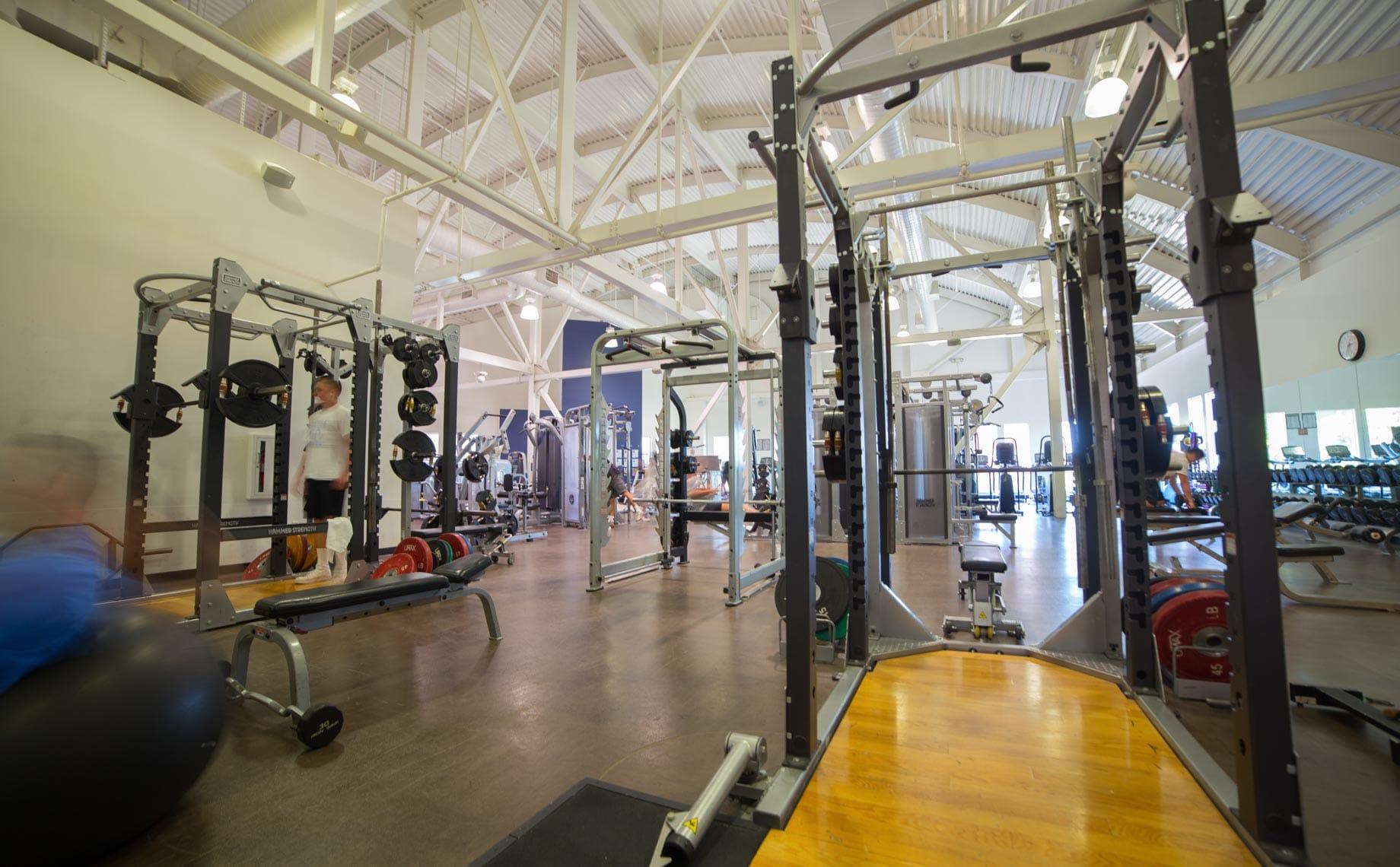 PJCC Fitness Center equipment
