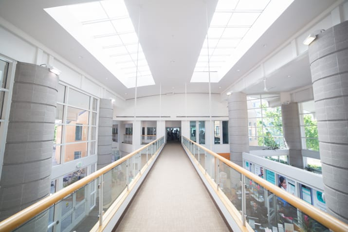 Interior view of the PJCC walkway